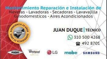 reparacion mantenimiento de electrodomesticos y gasodomesticos