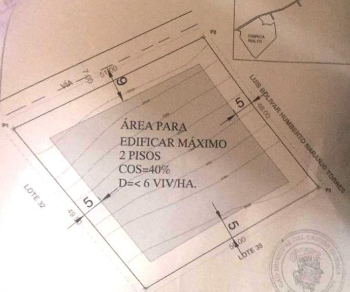 2423mts cuadrados Chaullabamba a 57 cada mts