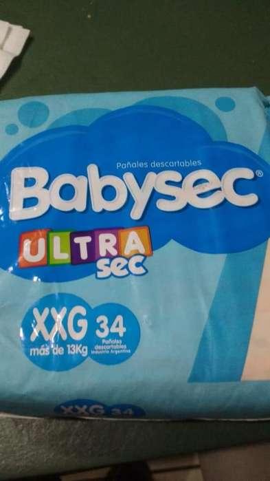 2 Hiperpack Babysec x 34 Pañales XXG 2 x 600