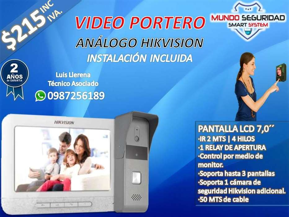 <strong>video</strong> portero analogo