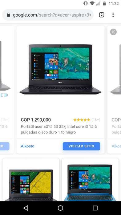 Acer A315 Intel Core I3
