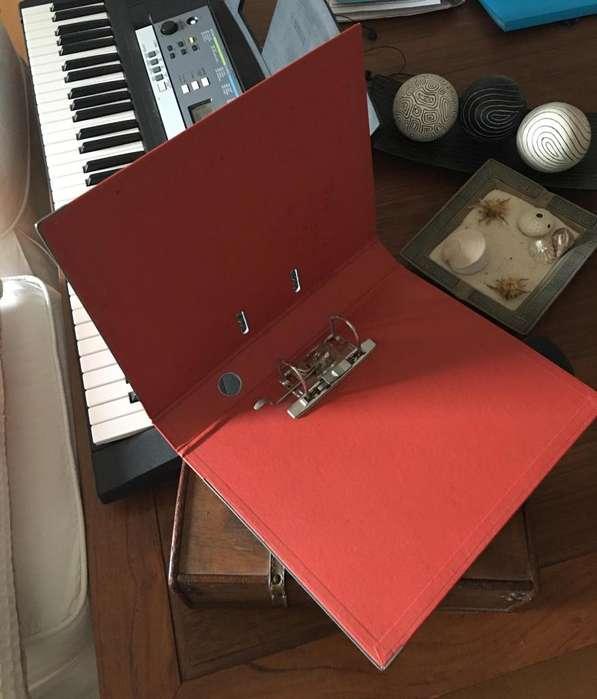 Bibliorato THE PEL de 35x28cm forrado en PVC Rojo - Lomo 5cm de Ancho