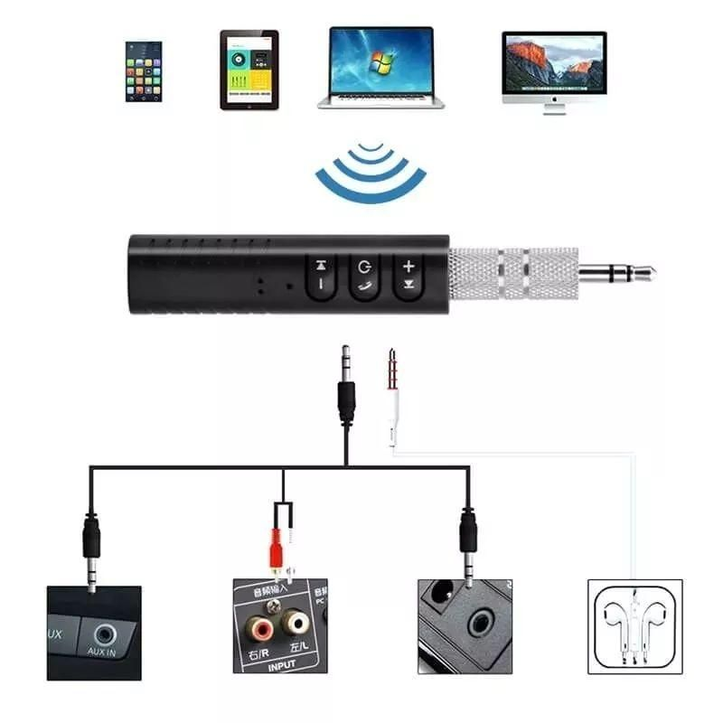 Adaptador Receptor Audio Bluetooth 4.2 Recargable Inalambric