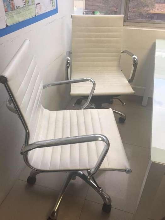 <strong>sillas</strong> cuero Blancas de oficina giratorias
