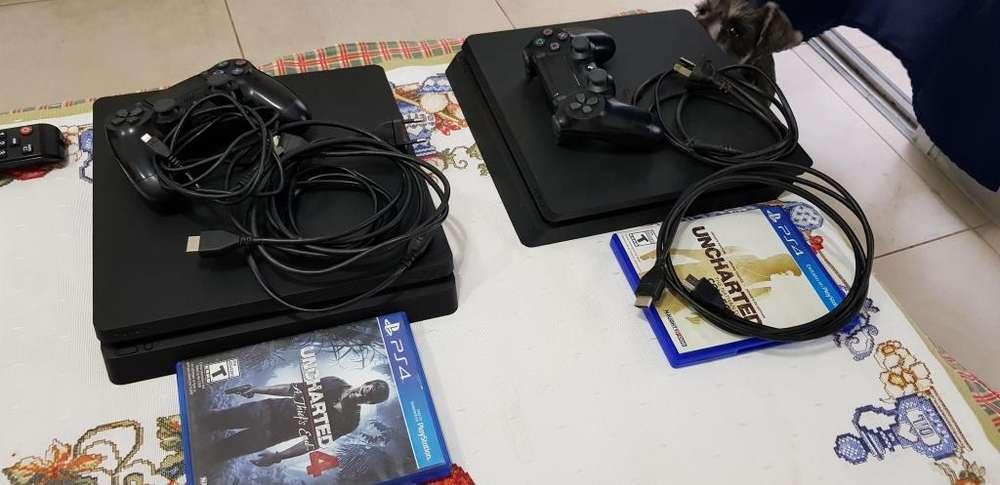 Vendo Ps4 Slim 1tb Joystick 4 Juegos
