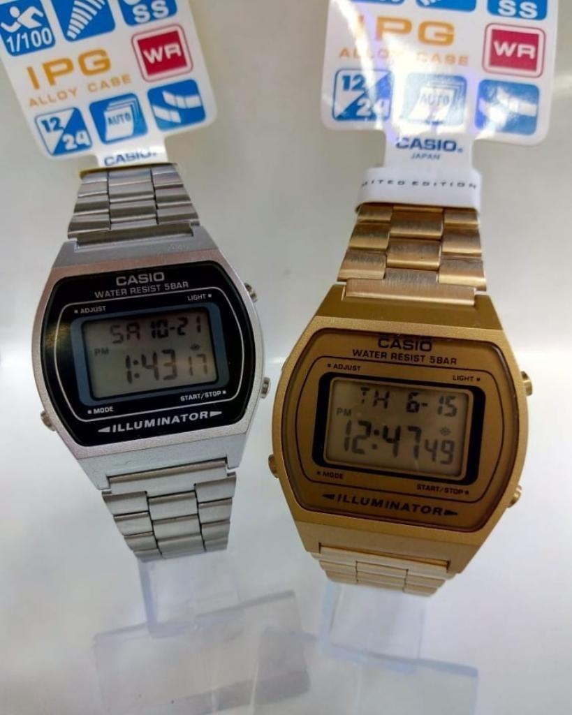 6ed53cde3316 Reloj Casio Retro Dorado O Plateado - Cali