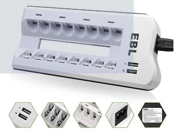 <strong>cargador</strong> Para 8 Baterías AA/AAA Nimh, Nicd, celures, tablets