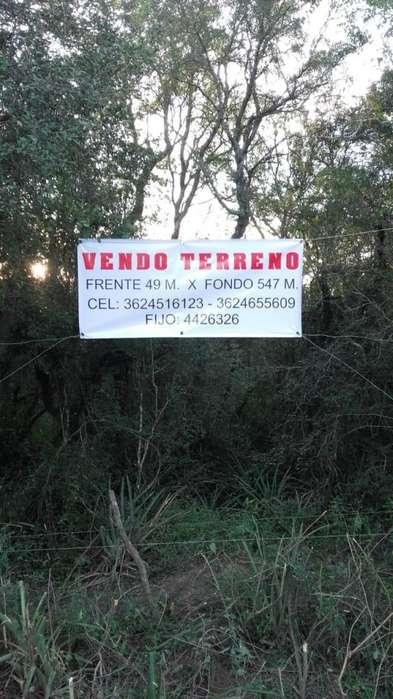 Dueño Vende campito zona Puerto Tirol Chaco Acceso viejo , a 300 mts. autovía 16