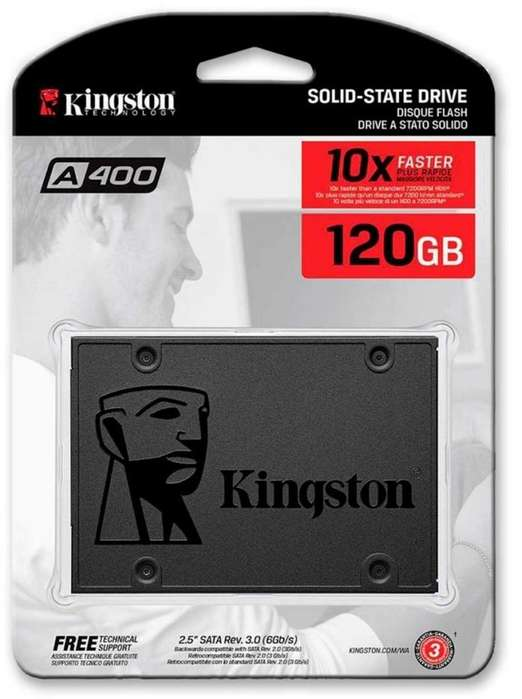 Unidad De Estado Solido Ssd Kingston A400 De 120gb Sata 3.0