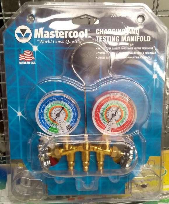 MANOMETRO MASTERCOOL R22 R134A R404A AIRE ACONDICIONADO Y REFRIGERACION