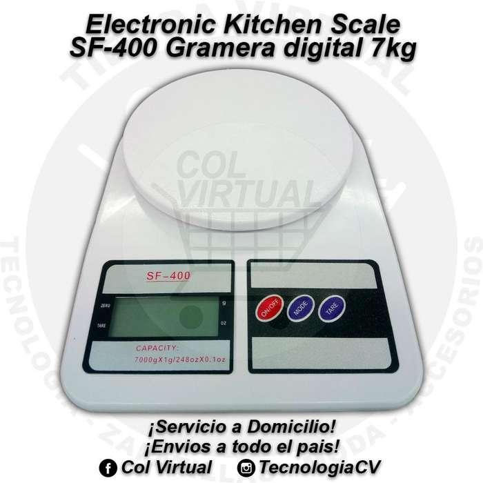 Gramera digital cocina de 7kg Electronic Kitchen Scale SF400 6336M0VP18 R0439 colvirtual tecnologiacv
