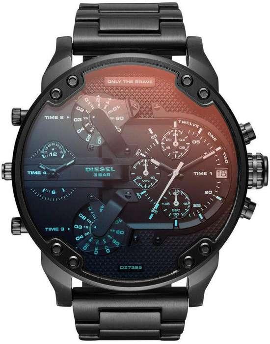 Reloj Hombre Diesel Mr. Daddy 2.0 Azul Naranja Dz7395