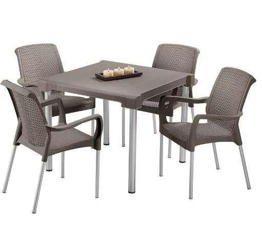 Juego de mesa con 4 <strong>sillas</strong> Marca Rimax, Ref. SHIA