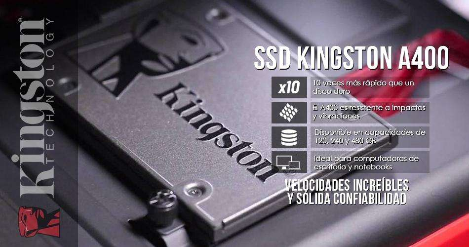 Disco duro SSD 240 - 480 GB Kingston