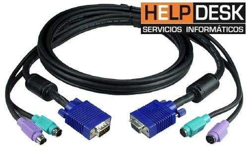Cable KVM para el switch KVM, VGA, PS2 Mouse y Teclado