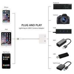 Adaptador otg Apple De Lightning A USB 3.0 Para Iphone Ipad, tienda centro comercial