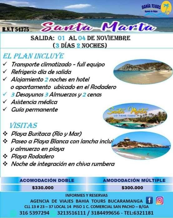 Santa Marta Salidas 1 Y 8 de Noviembre