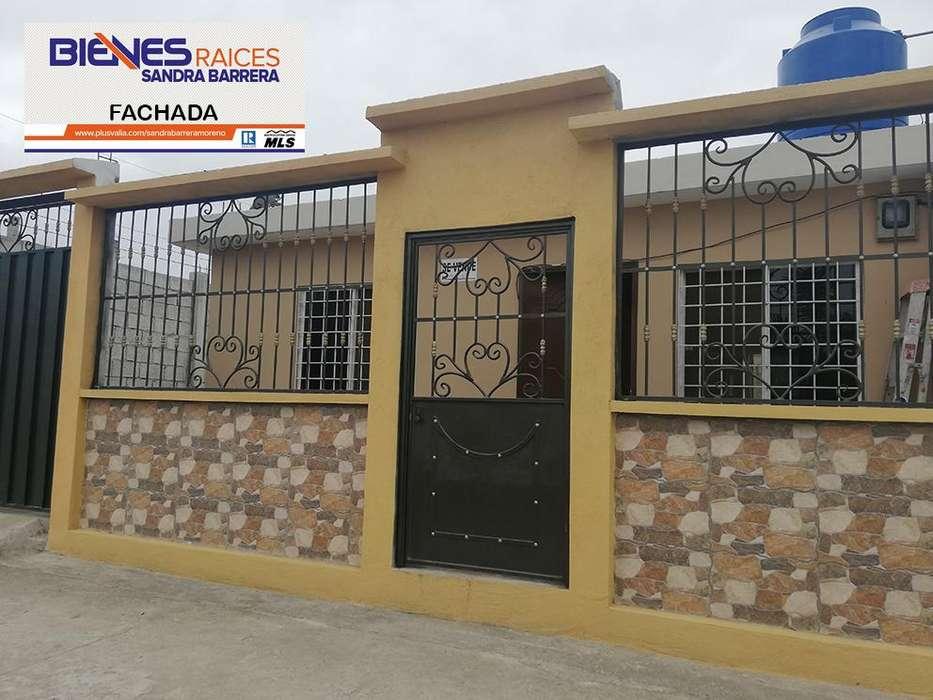 En Machala, Urbanización El Girasol se Vende Villa con proyección a otro piso.