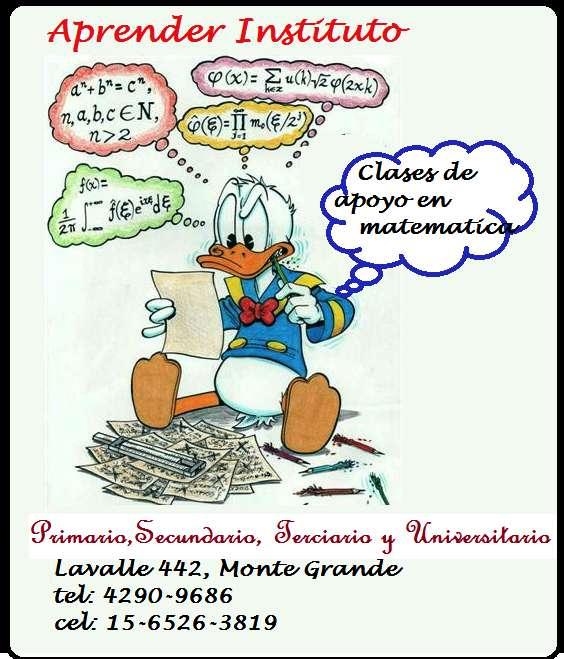 Apoyo escolar de Matemática en Monte Grande