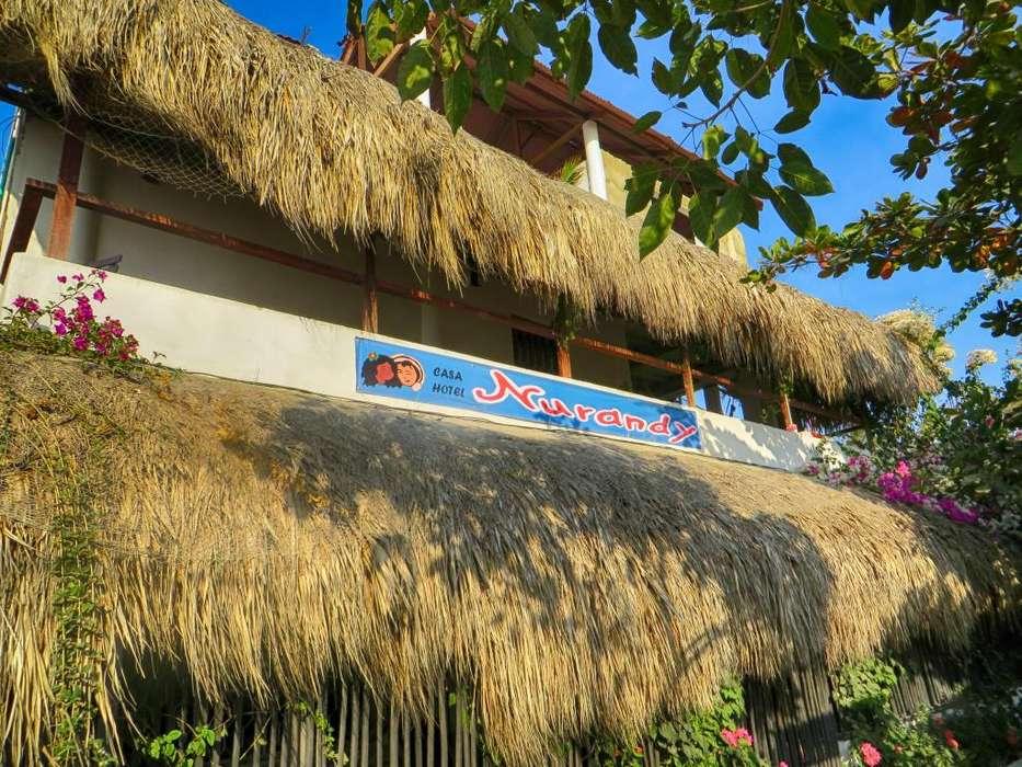 Habitaciones para turismo frente a la playa con baño y aire.