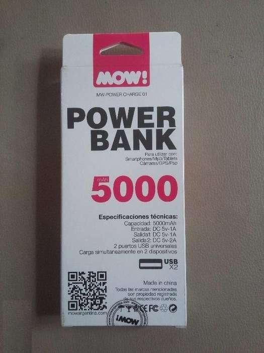 Vendo Cargador Portatil Power Bank Mow con Linterna Led