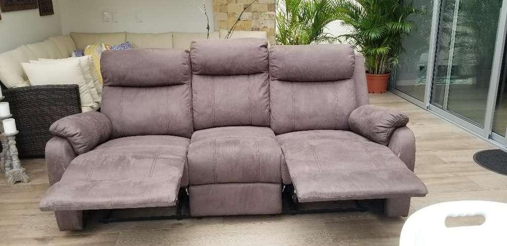 Nuevo!! Mueble Reclinable 3 Puestos