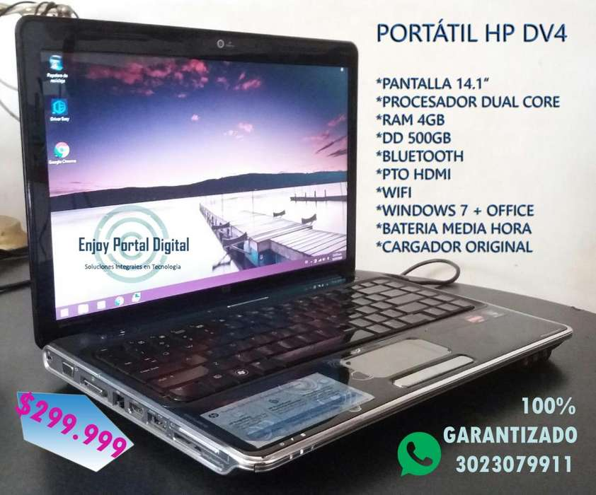 Portátil Hp Dv4 Hdmi Bluetooth