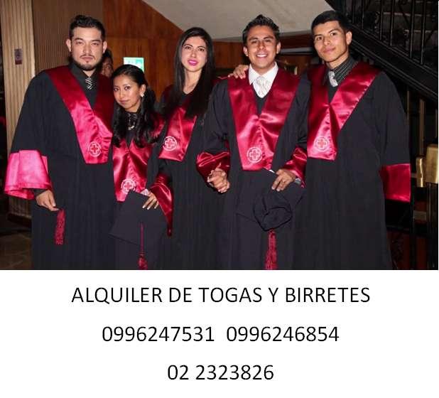 TOGAS, CAPAS, MUCETAS Y ESTOLAS, ALQUILER