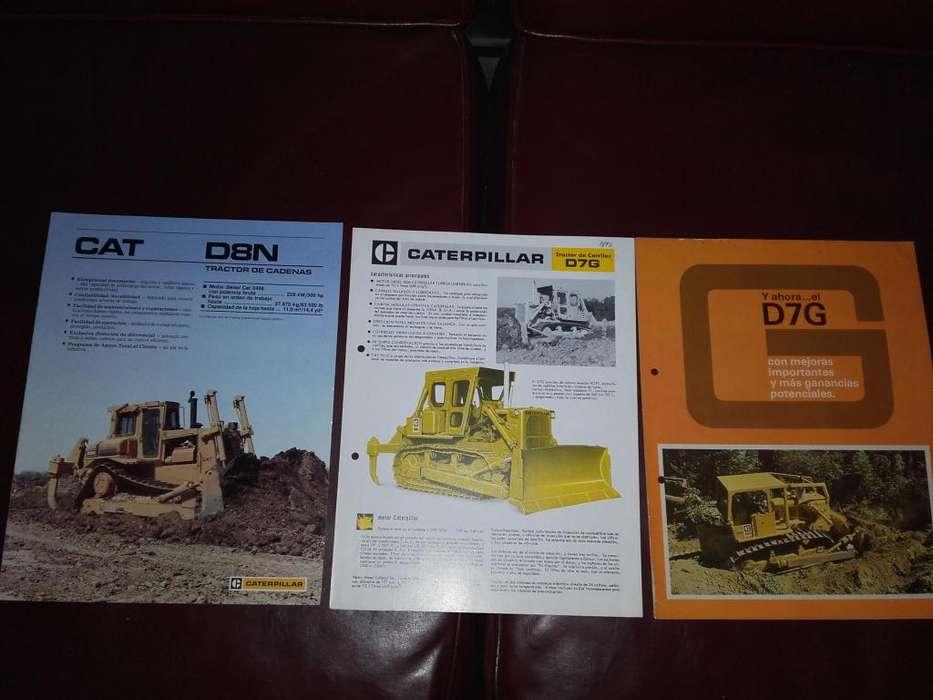 Lote Catálogos De Tractores Topadores Caterpillar