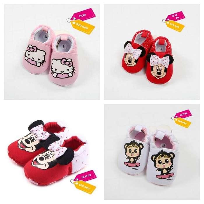 Zapatos Bebe Antideslizante Babuchas Niña Hello Kity Minnie