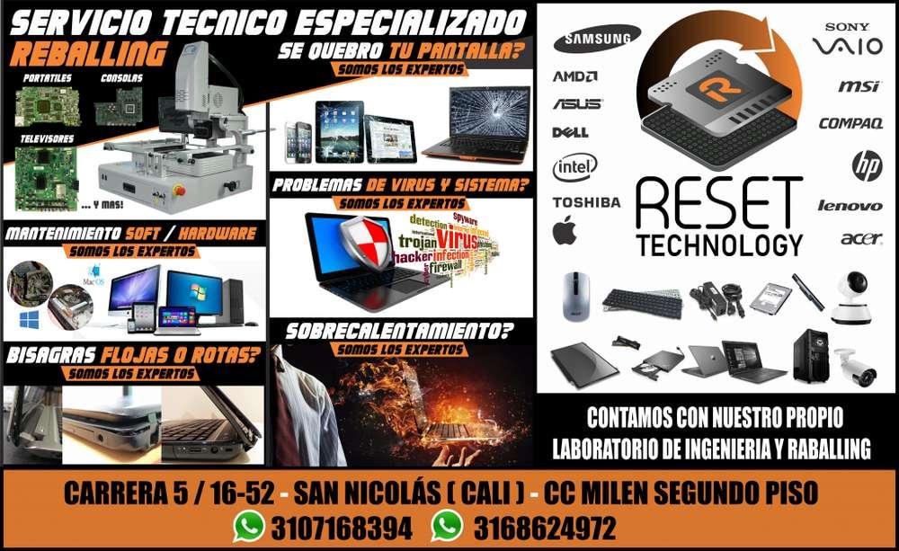Reballing para portatiles, equipos de computo, televisores y consolas.