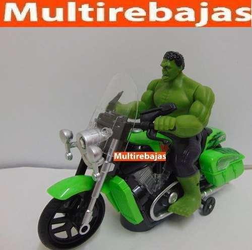 Hulk En Moto Con Luz Y Sonido