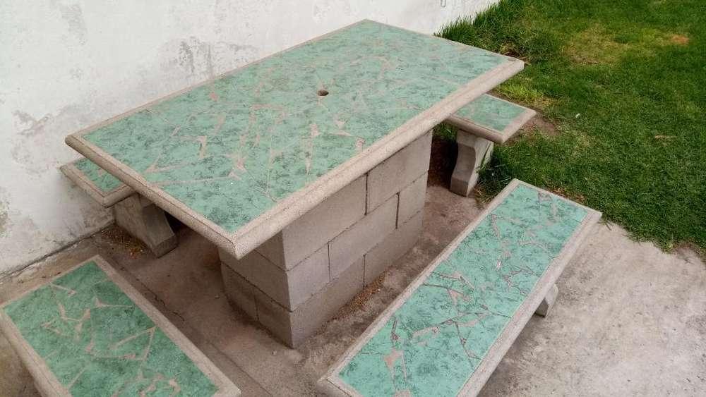 Juego de jardin cemento: Hogar - Muebles - Jardín en Argentina | OLX
