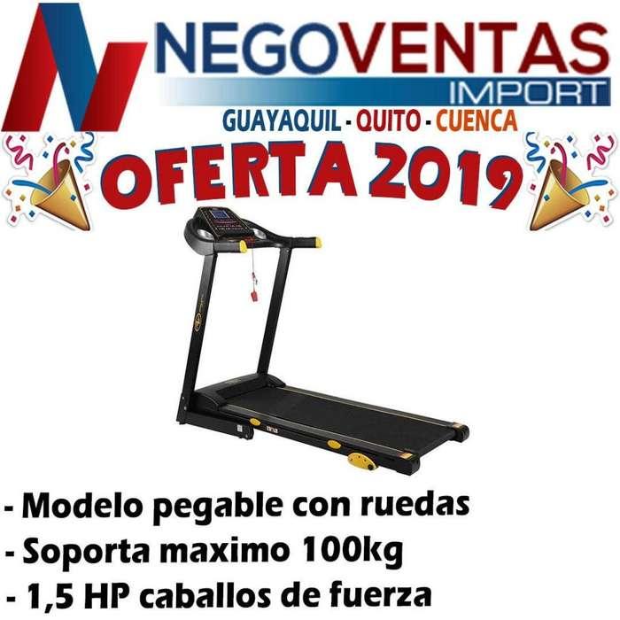 MAQUINA CAMINADORA MODELO PLEGABLE CONRUEDAS DE 1,5 HP CABALLOS DE FUERZA