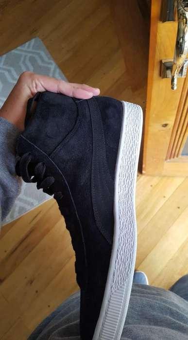 zapatos puma suedes classic black nuevos y originales