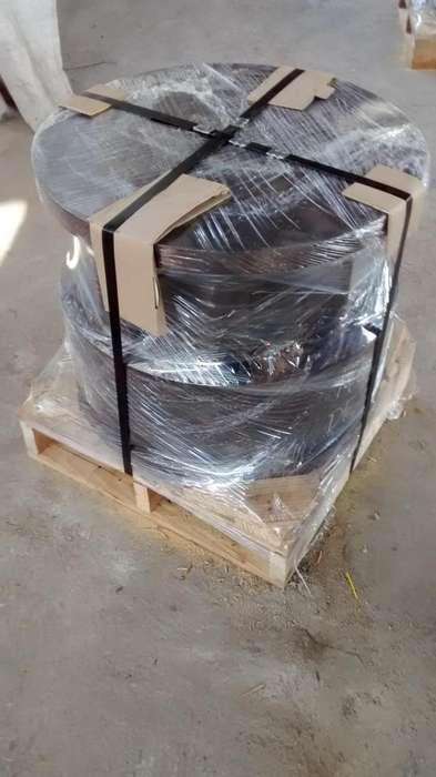 servicio enzunchado con fleje de metal cilindros y maquinarias pesadas para exportacion y nacional