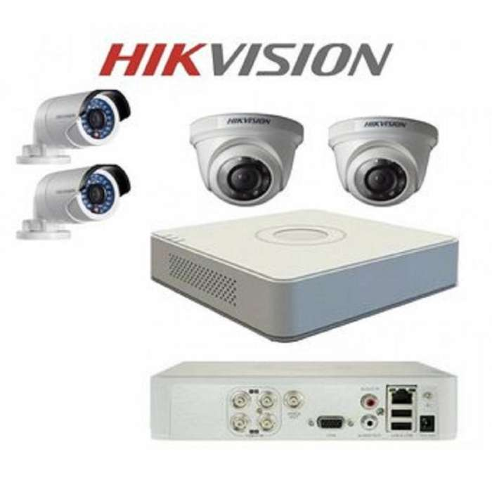 Kit Completo de 4 Camaras de Seguridad HD 720P Hikvision DAHUA