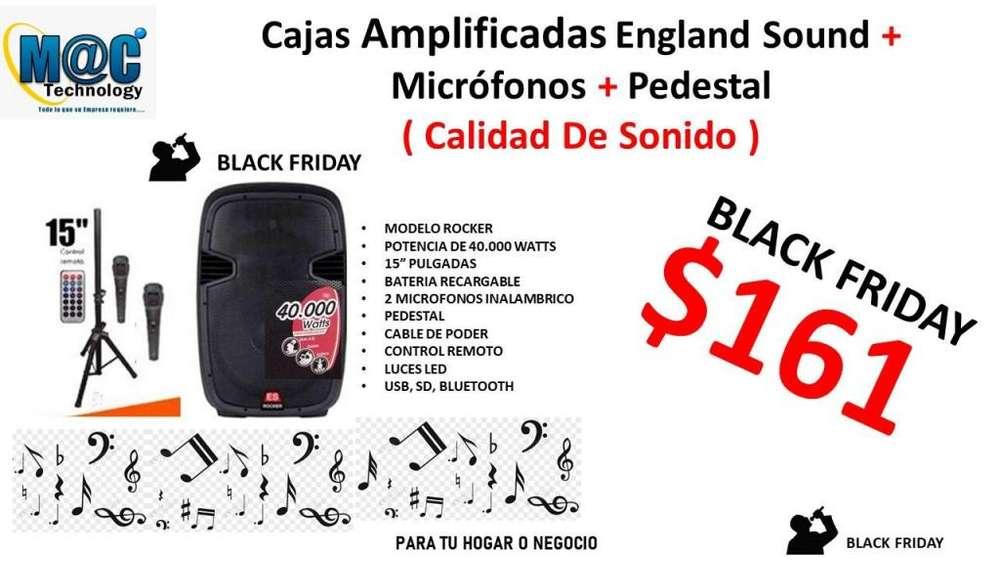 Caja Parlante Amplificada England Sound 15 Pulg