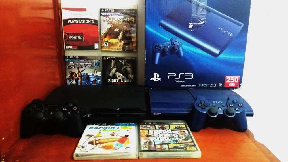 Playstation 3 slim y Playstation 3 super slim 10/10 en todo instalados tienda de juegos ilimitada