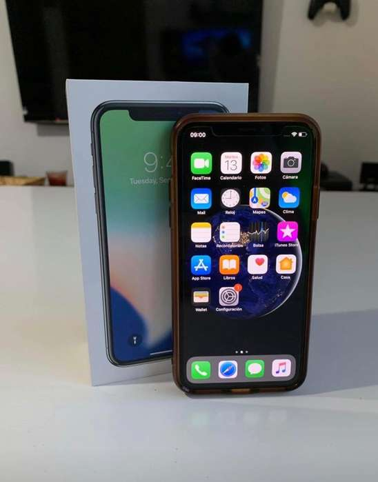 iPhone X 64Gb Negro Impecable con Caja