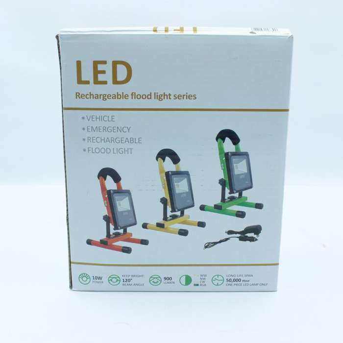 Reflector Proyector De Luz Led Recargable 10w Multiusos