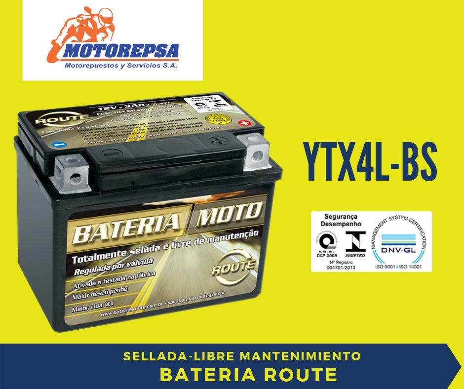 Bateria para MOTO ROUTE YTX4LBS / 12v3Ah