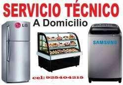 SERVICIO TECNICO DE REFRIGERADORAS Y LAVADORAS A DOMICILIO cel: 925404215