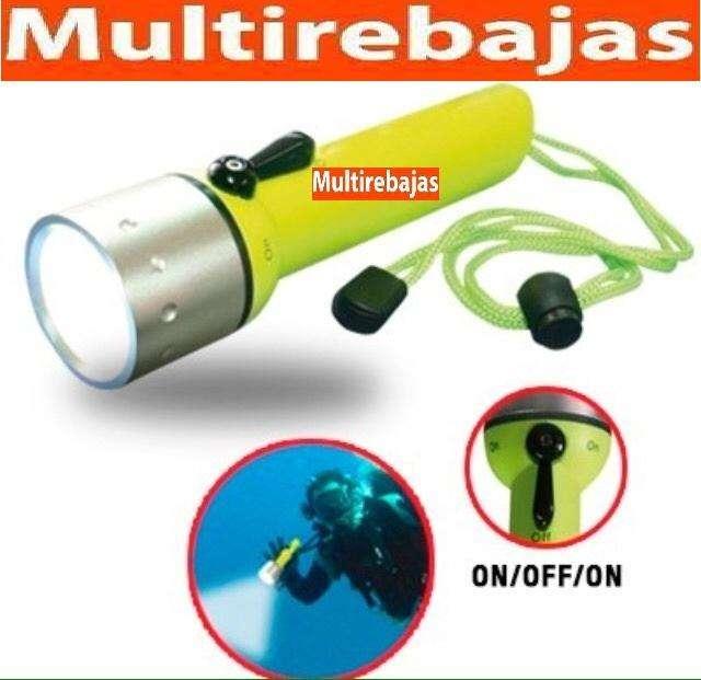 Linterna Tactica Para Buceo Sumergible Led <strong>pesca</strong> Submarina