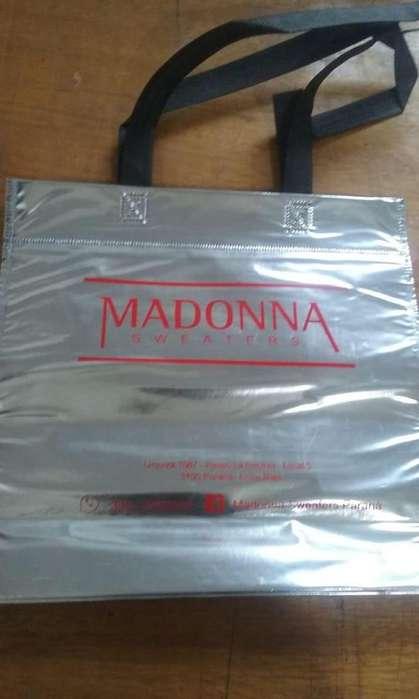100 Bolsas Friselina Metalizada 30 x 30 cm. Impresas