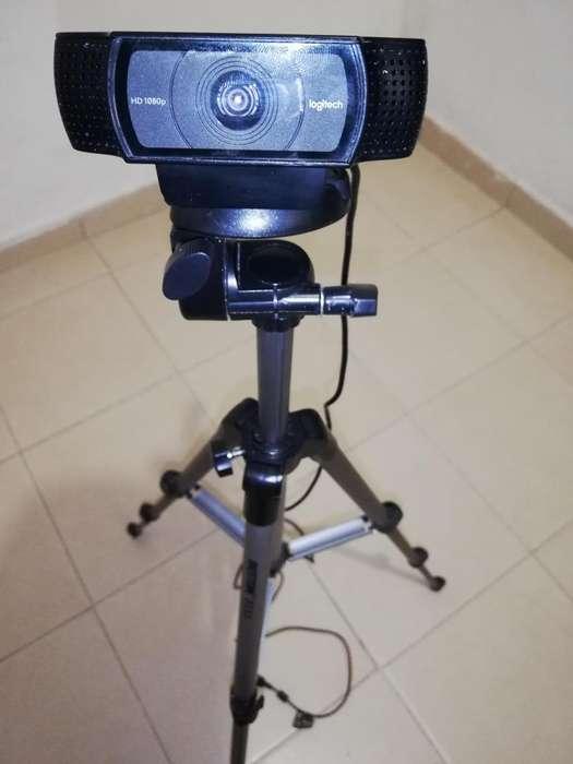 Gran Oferta Cámara Web Full Hd Logitech visualización panorámica 1080P vídeo llamadas y grabación Trípode