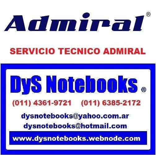 ADMIRAL SERVICIO TECNICO NOTEBOOK NETBOOK LAPTOP