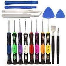 Set de herramientas básicas y piezas de plástico 16pzs
