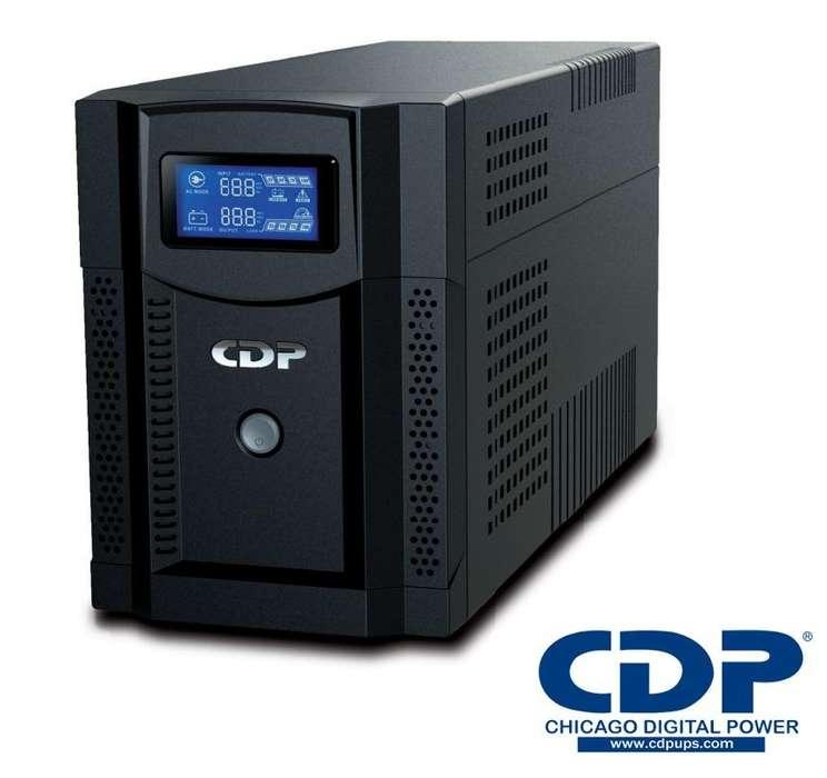 UPS CDP UPRS1508 INTELIGENTE CON REGULADOR 1500VA 1050W 120V 8 TOMAS CON LCD