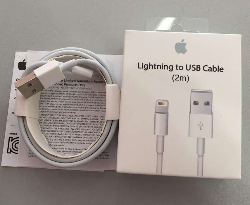 Cable USB iPhone 2M 100% Original